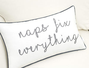 White Naps Fix Everything Pillow - Tapestry Girls
