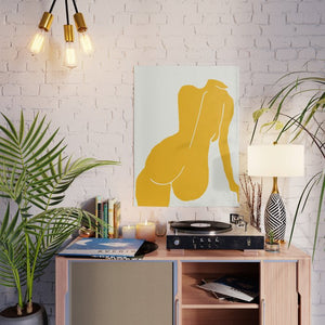 Nude In Yellow Poster - Tapestry Girls