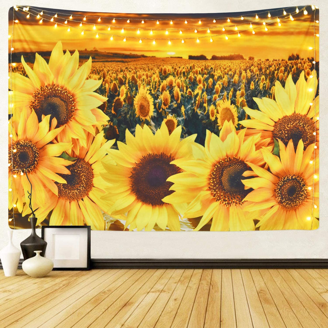 The Sunflower Field Tapestry - Tapestry Girls