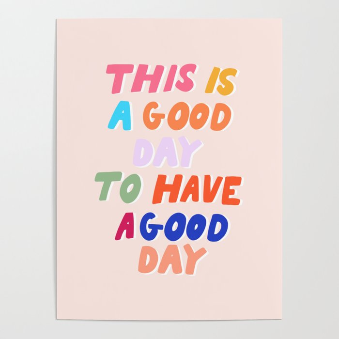Good Day Poster - Tapestry Girls