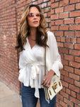 Ivory Satin Blouse