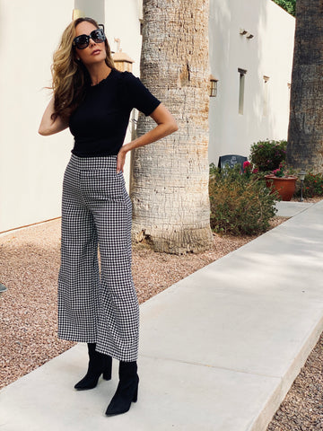 Black & White Houndstooth Pants