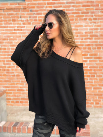 Black Oversized Sweater