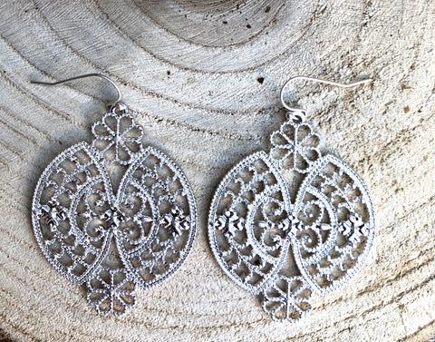 Silver Parisian Earrings