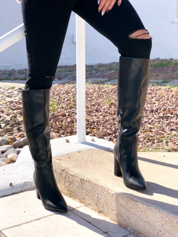 Black Spike Boots