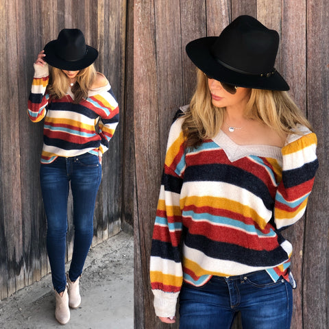 Striped Fall Sweater