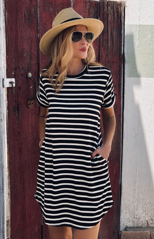Striped Pocketed Dress