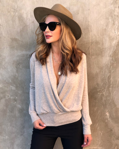 Tan Wrap Sweater