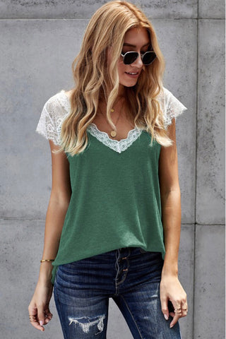 Green Laced Top