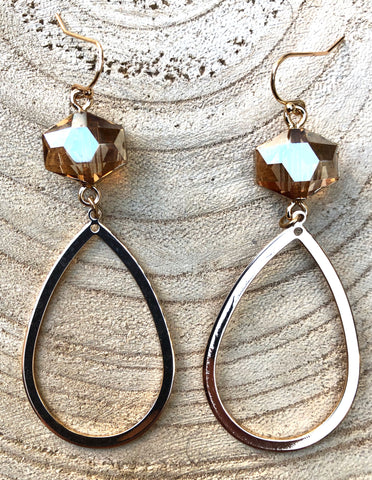 Topaz Dangle Hoops
