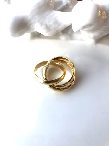 Gold Trio Ring Set