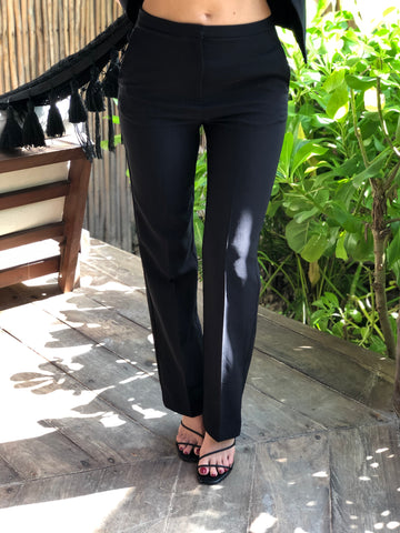 Black High Waisted Palazzo Pants