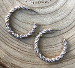 Fabulous Encrusted Hoops