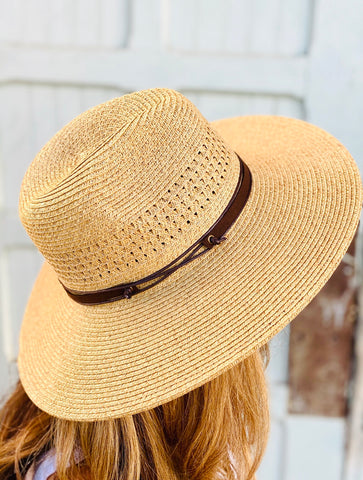 Vanessa Straw Hat Brown Band
