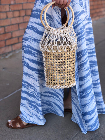 Natural Woven Basket Purse
