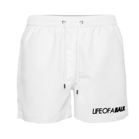 Embroidered LOAB Swim Shorts White