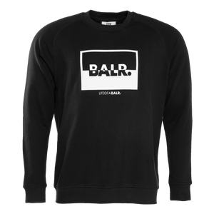 Contrasting Logo Crewneck Sweater Black