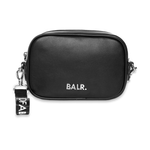 BALR. SILVER LOGO SHOULDER BAG BLACK