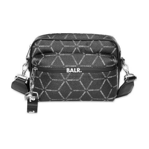 LOAB ALL-OVER PRINT SHOULDER BAG BLACK