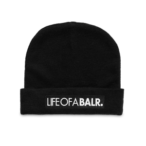 LIFEOFABALR. Big Club Logo Beanie Black