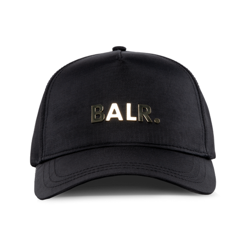 BRAND GOLD METAL LOGO CAP BLACK/GOLD