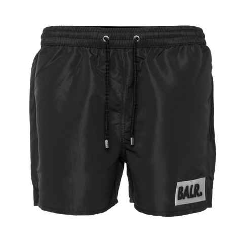 Rubber Box Logo Swim Shorts Black