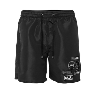 BALR. Badge Swim Shorts Black
