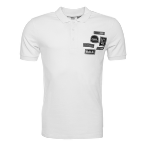 BALR. Badge Polo Shirt White