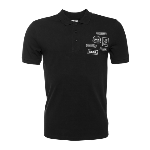 BALR. Badge Polo Shirt Black