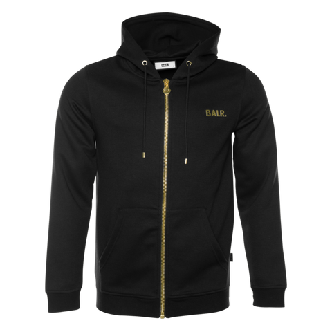 Q-Series Zipped Hoodie Black/Gold