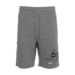 BALR. Badge Shorts Grey