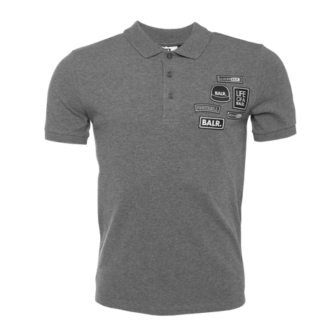 BALR. Badge Polo Shirt Grey