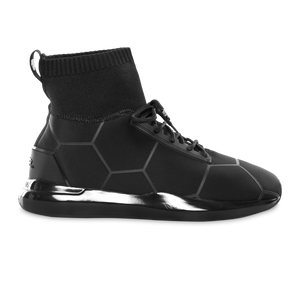 Black on Black Panel Sneakers