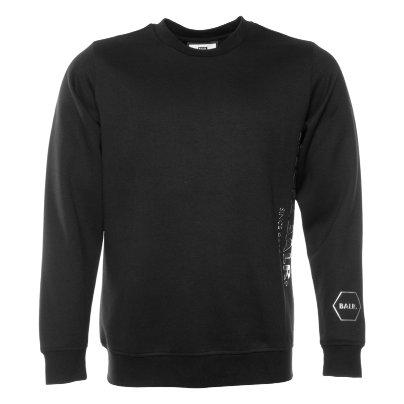 CC BALR. STRAIGHT CREW NECK SWEATER BLACK