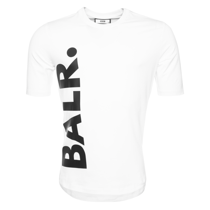 BALR. BIG LOGO ATHLETIC T-SHIRT WHITE