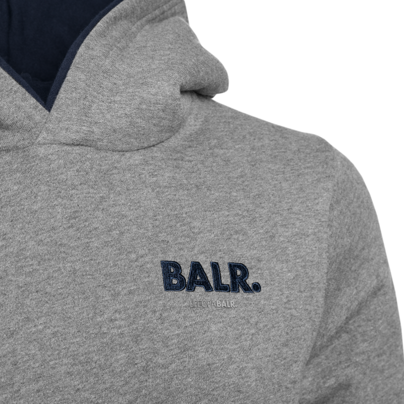 0267bea71e Embroidered LOAB Hoodie Grey – BALR. Japan Official Store