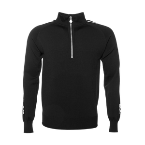 Brand Tape Half-Zip Sweater Black