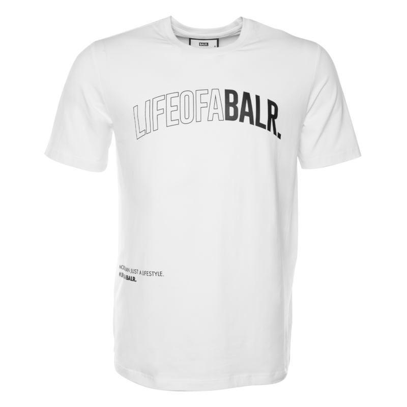 LOAB LIFESTYLE STRAIGHT T-SHIRT WHITE