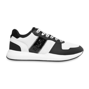 Solid Street Sneakers White Black