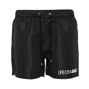 Embroidered LOAB Swim Shorts Black