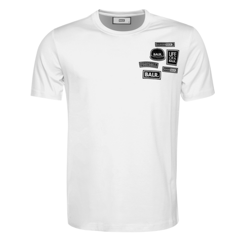 Black Label - BALR. Badge T-Shirt White