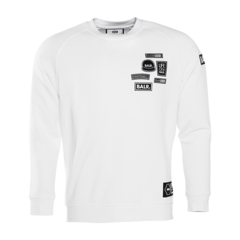 BALR. Badge Crewneck Sweater White