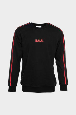 BALR. Taped Straight Crew Neck Black