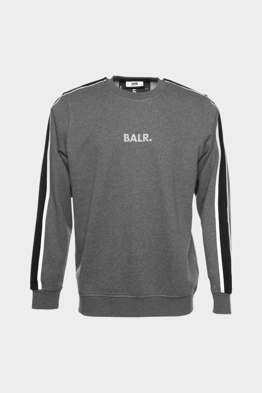BALR. Taped Straight Crew Neck Grey Heather