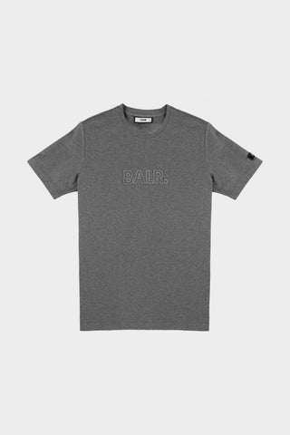3D Embro Straight T-Shirt Dk Grey Heather