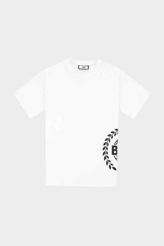 Crest Print Ss Oversized Fit T-Shirt Bright White