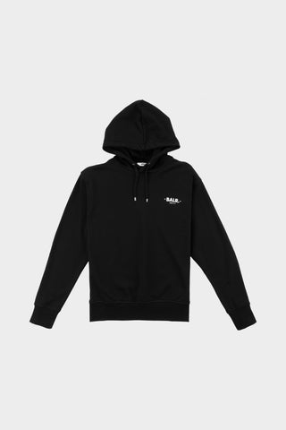Minimalistic Stone Relaxed Fit Hoodie Black