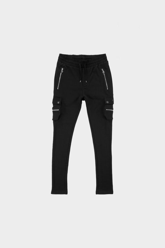 Cargo Slim Fit Pants Black