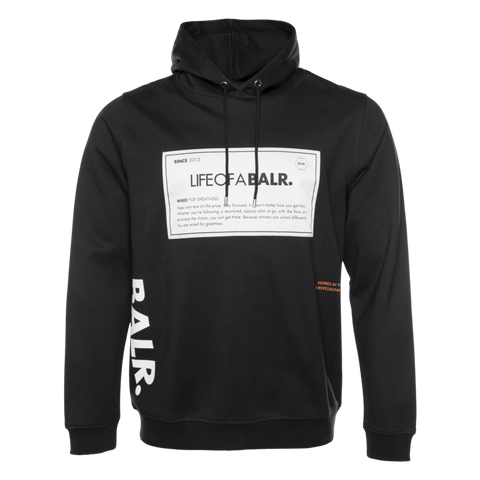 BALR. PATCH STRAIGHT HOODIE BLACK