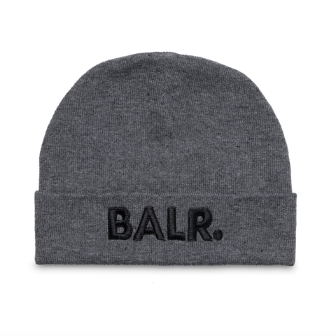 Embroidered Beanie Grey